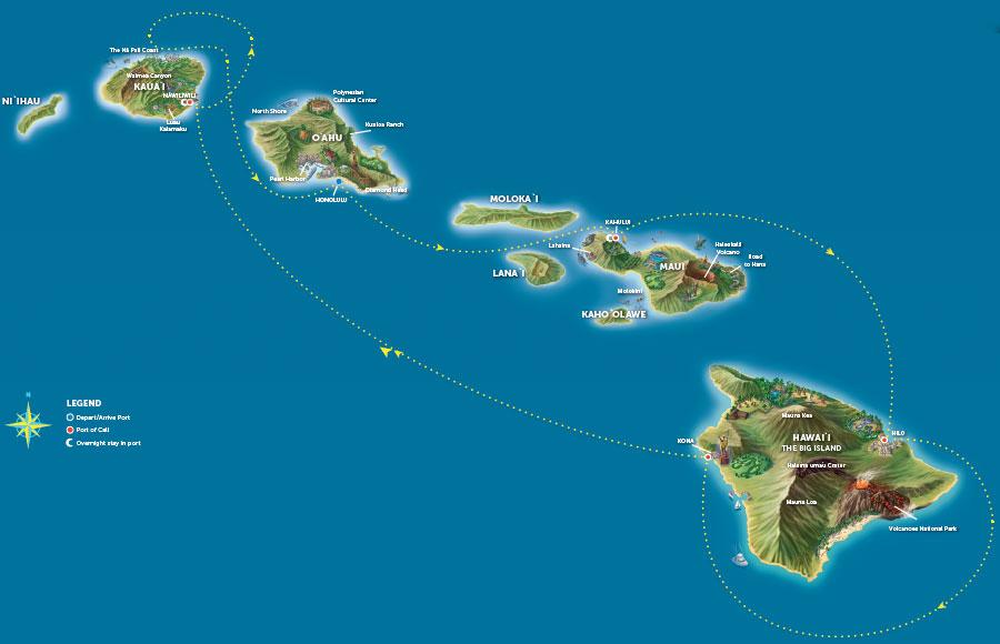 Mapa De Hawaii Big Island