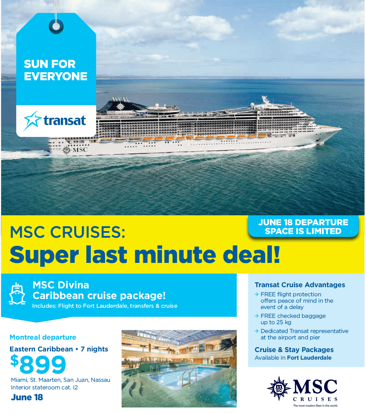 MSC Cruises - Super last minute deals flyer