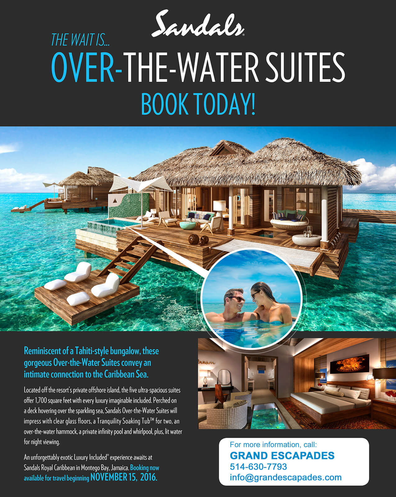 Sandals over-the-water suites flyer