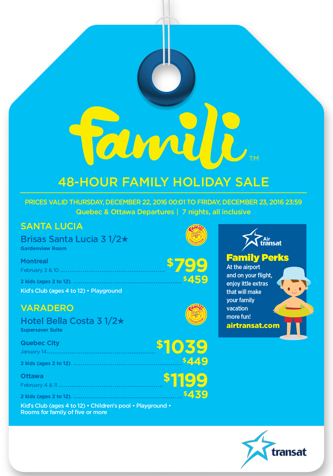 48-Hour Family Holiday Sale - Book before December 23rd!