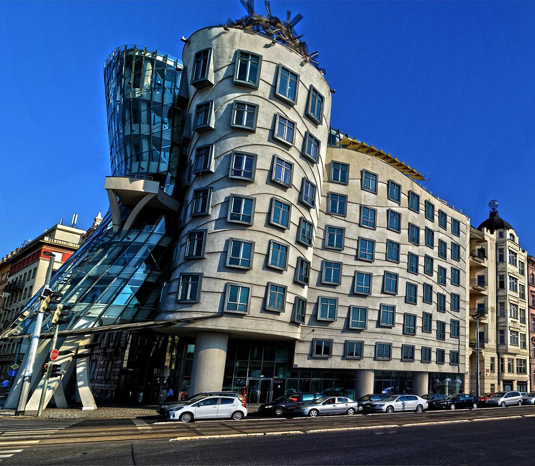 Unique architecture in Prague