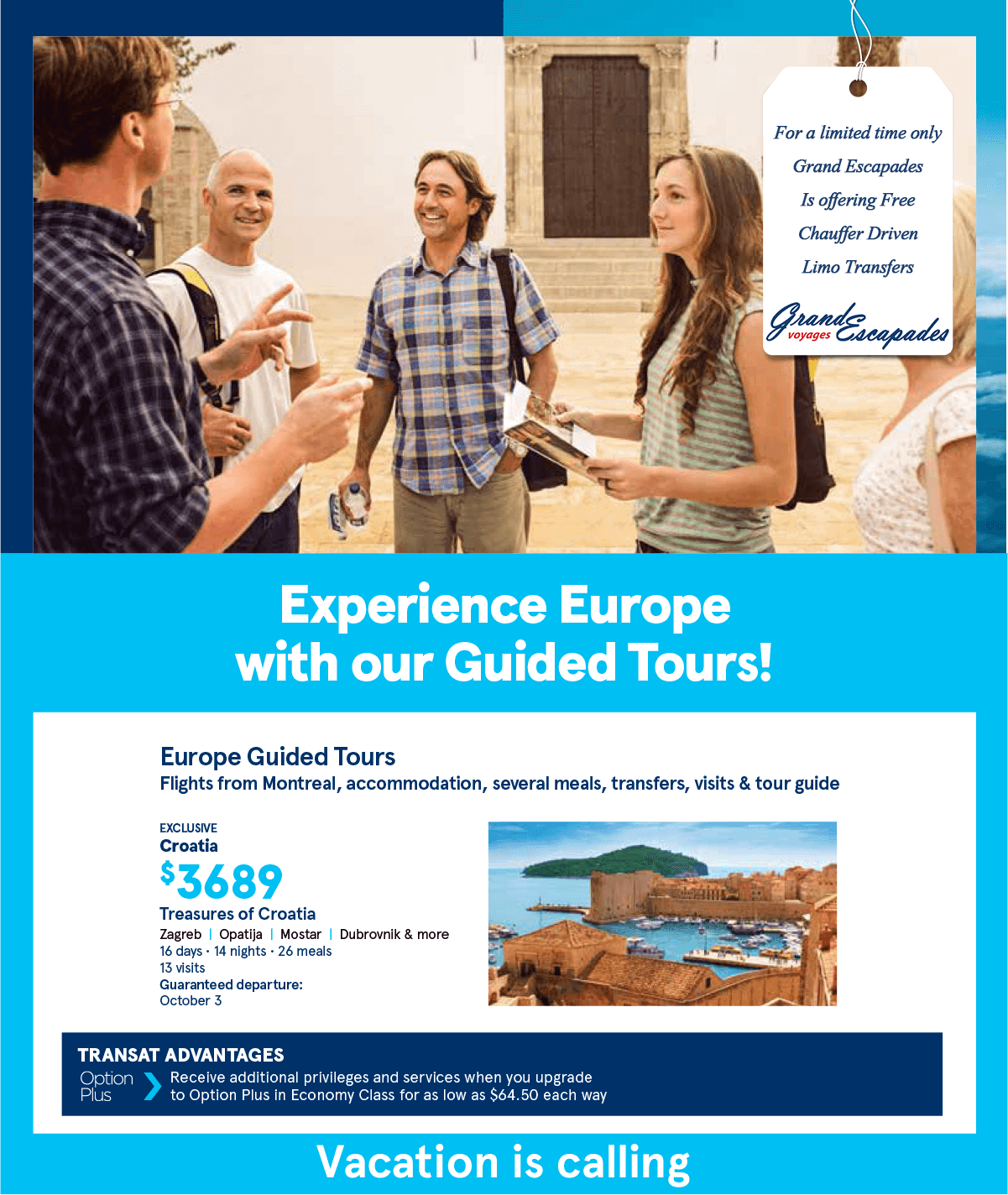 Experience Europe with our Guided Tours!