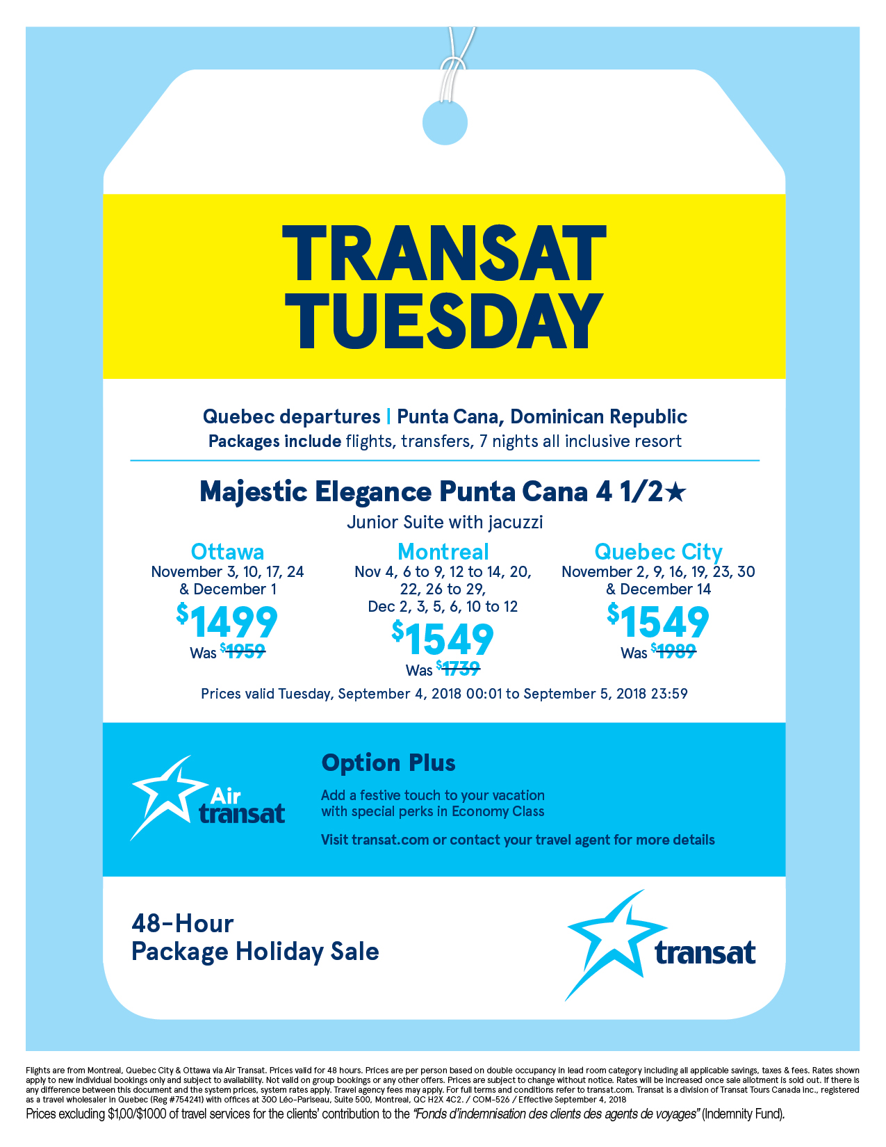 AIR TRANSAT DISCOUNT CODE